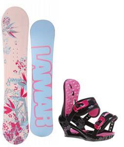 Lamar Merlot Snowboard w/ Morrow Sky Bindings