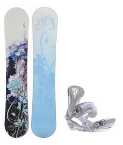 M3 Frosty Snowboard w/ Sapient Zeta Bindings