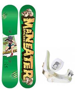 Rome Detail Rocker Blem Snowboard w/ Morrow Lotus Bindings