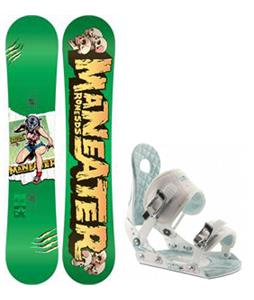 Rome Detail Rocker Blem Snowboard w/ Ride LXH Bindings