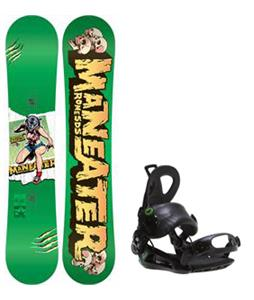 Rome Detail Rocker Blem Snowboard w/ Roxy Rock-It Blast Bindings
