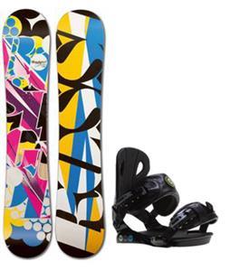Rossignol Justice Amptek Snowboard w/ Roxy Classic Bindings
