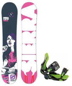 Sierra V Spot Snowboard w/ Rossignol Justice Bindings
