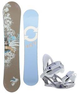 Twenty Four/Seven Fawn Snowboard w/ K2 Charm Bindings