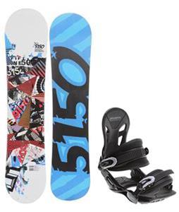 5150 Shooter Snowboard w/ Avalanche Summit Bindings