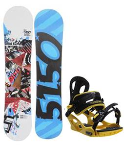 5150 Shooter Snowboard w/ M3 Pivot Rockstar Bindings