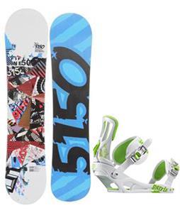 5150 Shooter Snowboard w/ Rossignol Battle Bindings
