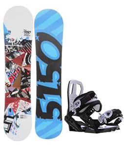 5150 Shooter Snowboard w/ Sapient Zeus Jr Bindings