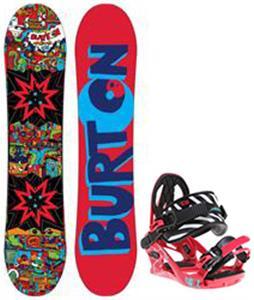 Burton Chopper Blem Snowboard w/ K2 Kat Bindings