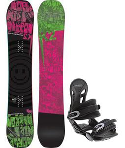K2 WWW Rocker Snowboard w/ Avalanche Summit Bindings
