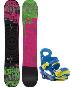 K2 WWW Rocker Snowboard w/ Burton Mission Smalls Bindings