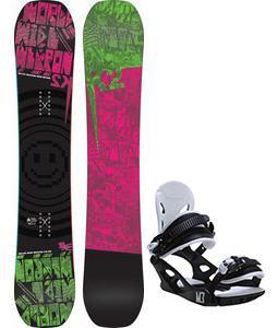 K2 WWW Rocker Snowboard w/ M3 Helix 3 Bindings