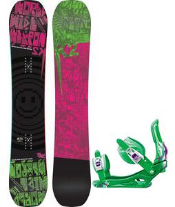 K2 WWW Rocker Snowboard w/ Rossignol Battle Bindings