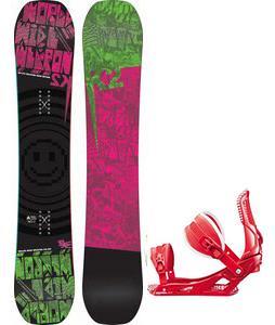 K2 WWW Rocker Snowboard w/ Rossignol Cage Bindings
