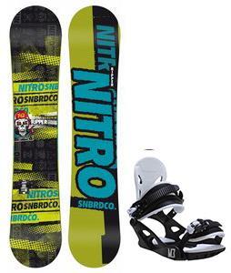 Nitro Ripper Snowboard w/ M3 Helix 3 Bindings