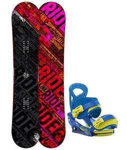 Ride Kink Snowboard w/ Burton Mission Smalls Bindings