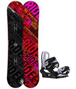 Ride Kink Snowboard w/ Sapient Zeus Jr Bindings