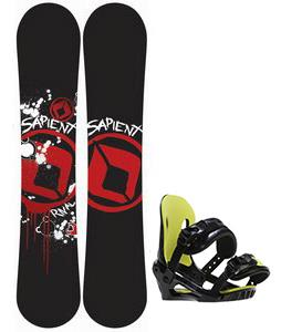 Sapient Rival Snowboard w/ Morrow Axiom Jr Bindings