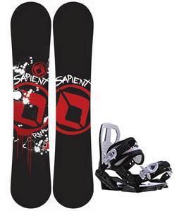 Sapient Rival Snowboard w/ Sapient Zeus Jr Bindings