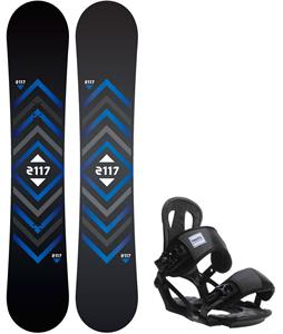 2117 Berg Snowboard w/ Head NX One Bindings