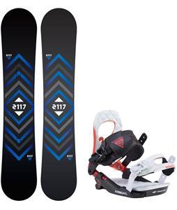 2117 Berg Snowboard w/ Rossignol Cobra V2 Bindings 2017