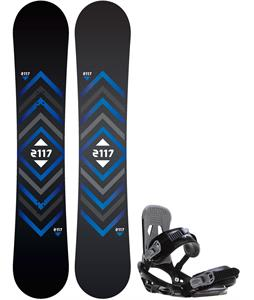 2117 Berg Snowboard w/ Sapient Stash Bindings