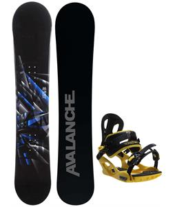 Avalanche Source Snowboard w/ M3 Pivot Rockstar Bindings
