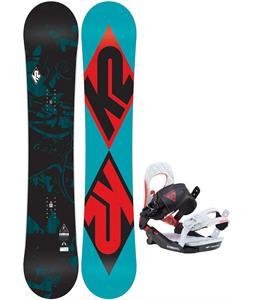K2 Standard Snowboard   w/ Rossignol Cobra V2 Bindings 2017