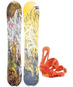 Rossignol XV Magtek Snowboard w/ Burton Freestyle Bindings