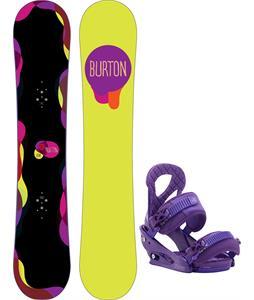 Burton Genie Blem Snowboard w/ Burton Stiletto Bindings