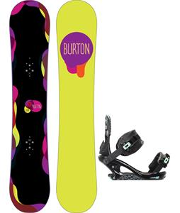 Burton Genie Blem Snowboard w/ K2 Yeah Yeah Bindings