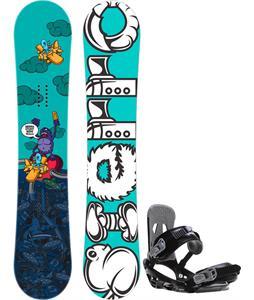 Sierra Stunt Wide Snowboard   w/ Sapient Stash Bindings