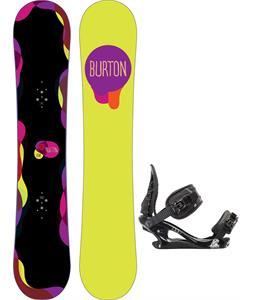 Burton Genie Blem Snowboard w/ K2 Charm Bindings