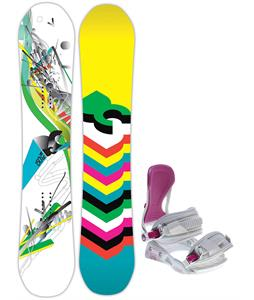 DC Ply Snowboard w/ Avalanche Serenity Bindings