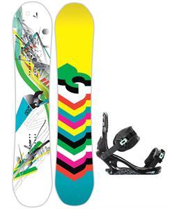 DC Ply Snowboard w/ K2 Yeah Yeah Bindings