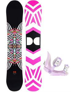 DC Ply Snowboard w/ Morrow Slider Bindings