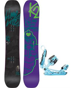 K2 Lime Lite Snowboard w/ K2 Cinch Tryst Bindings