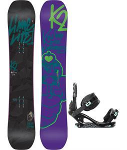 K2 Lime Lite Snowboard w/ K2 Yeah Yeah Bindings