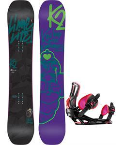 K2 Lime Lite Snowboard w/ Rossignol Myth Bindings
