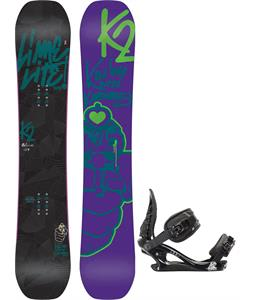 K2 Lime Lite Snowboard w/ K2 Charm Bindings