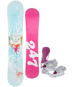 Twenty Four/Seven Fawn Snowboard w/ Avalanche Serenity Bindings