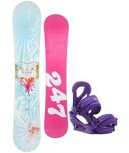 Twenty Four/Seven Fawn Snowboard w/ Burton Stiletto Bindings