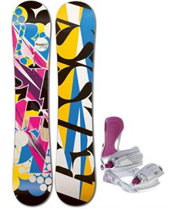 Rossignol Justice Amptek Snowboard w/ Avalanche Serenity Bindings