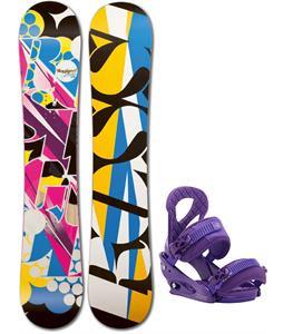 Rossignol Justice Amptek Snowboard w/ Burton Stiletto Bindings