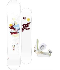Rossignol Amber Snowboard w/ Sapient Zeta Bindings