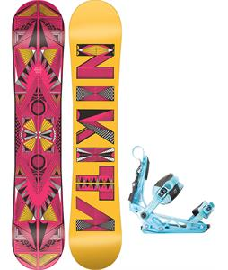 Nikita Sideway Sista Snowboard w/ K2 Cinch Tryst Bindings