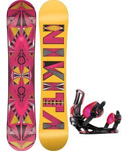 Nikita Sideway Sista Snowboard w/ Rossignol Myth Bindings