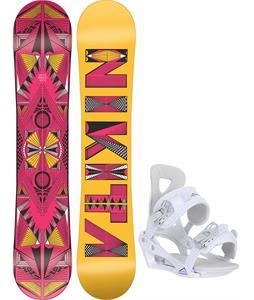 Nikita Sideway Sista Snowboard w/ Chamonix Brevant Bindings