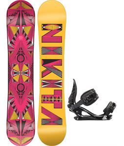 Nikita Sideway Sista Snowboard w/ K2 Charm Bindings