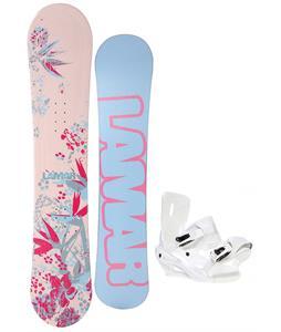 Lamar Merlot Snowboard w/ Sapient Zeta Bindings